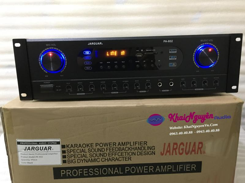Jarguar PA 602s ampli gia đinh có bo chống hú cao cấp ,có cổng quang