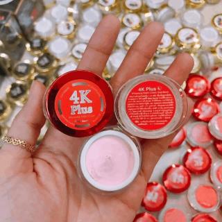 [giảm mụn mờ vết thâm] Kem giảm mụn mủ viêm đỏ mờ vết thâm dưỡng trắng da 4K Plus- Mẫu thử (trọng lượng 2gr bao gồm hộp) màu đỏ thumbnail