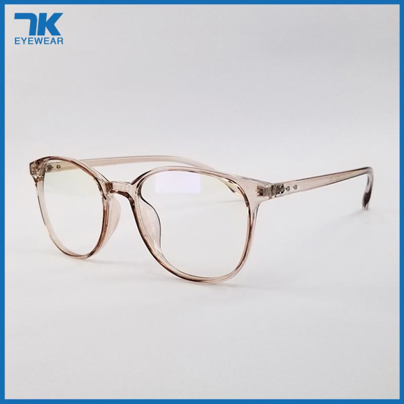 Giá bán Gọng kính nam nữ mắt cận tròn nhựa dẻo màu đen, xám khói, nâu hồng 3010. Tròng giả cận 0 độ chống ánh sáng xanh, chống nắng, chống tia UV. Eyeglasses frames for men/women. Blue-Light-Blocking-Glasses.
