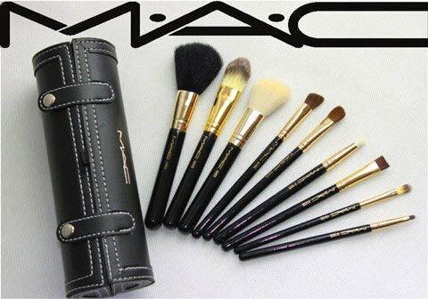 Bộ dụng cụ trang điểm cho da mặt Mac 9 món (kèm hộp đựng bằng da) - Phương Hera tốt nhất