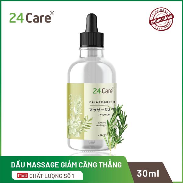 Dầu massage tinh dầu giảm căng thẳng 24care 30ml - dành cho người căng thẳng, cân bằng tinh thần