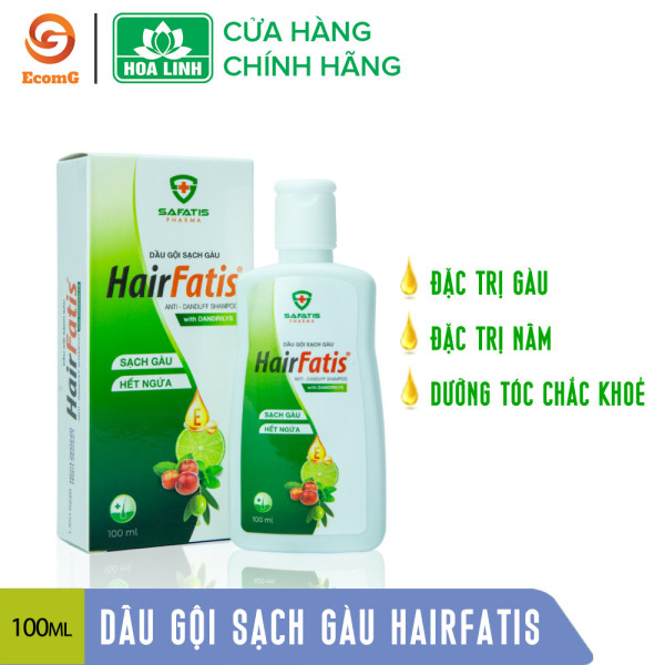 Dầu gội sạch gàu Hairfatis - Hoa Linh, thành phần thiên nhiên dưỡng tóc và da đầu, đẩy lùi nấm ngứa - GF8-DG001 giá rẻ