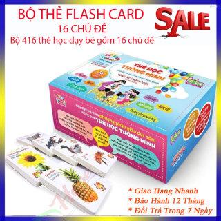 Bộ thẻ học thông minh FlashCard song ngữ Anh - Việt cỡ to 16 chủ đề (416 thẻ) dạy học cho bé từ 0-6 thumbnail