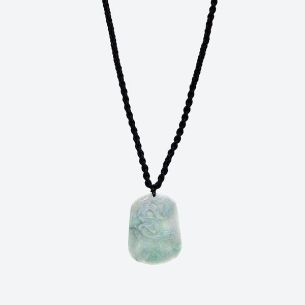 Mặt dây chuyền đá cẩm thạch phỉ thúy chạm rồng mệnh hỏa , mộc (màu xanh lá) - Ngọc Quý Gemstones