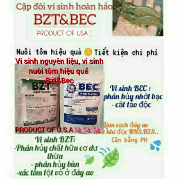 Men vi sinh nuôi tôm  BZT&BEC phân hủy bùn, cắt tảo độc, hạ khí độc hiệu quả, tiết kiệm chi phí