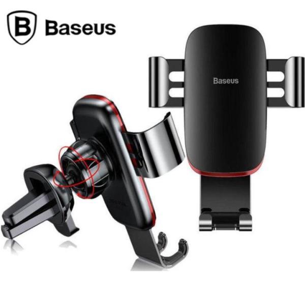Giá đỡ điện thoại trên xe ô tô, xe hơi nhãn hiệu Baseus SUYL-D01 gắn trên cửa gió điều hòa ( Màu đen)