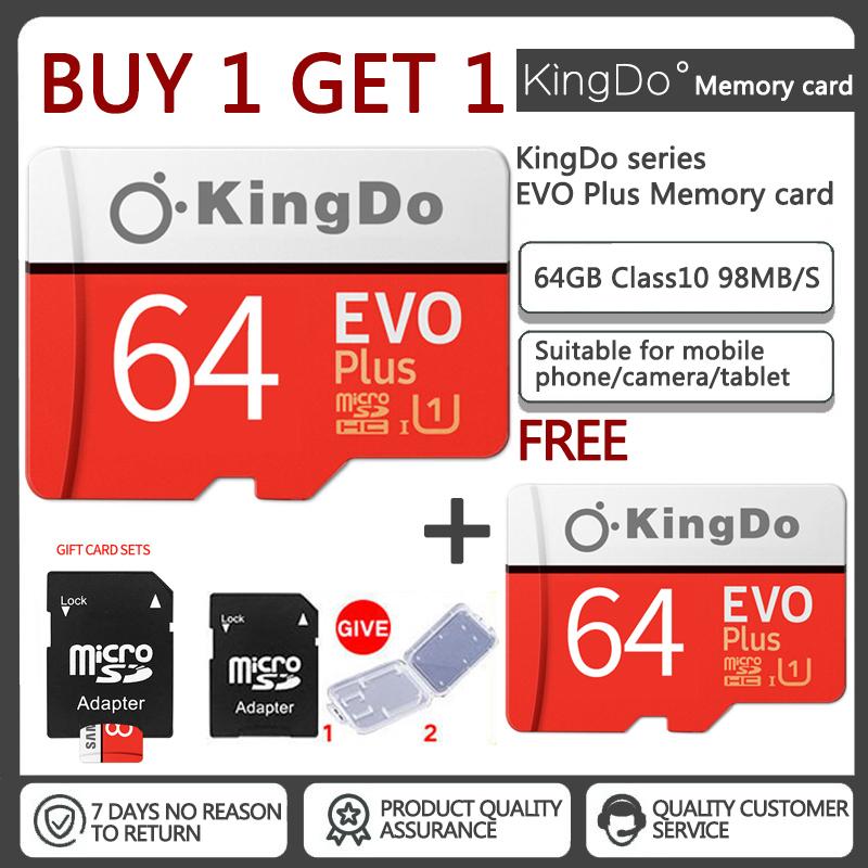 Mua 1 tặng 1 Thẻ nhớ 64GB Kingdo Evo Plus New (100 Mb/s) + Adapter Samsung