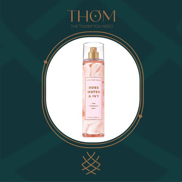 ROSE WATER & IVY | Sản Phẩm Xịt Thơm Toàn Thân Bath & Body Works