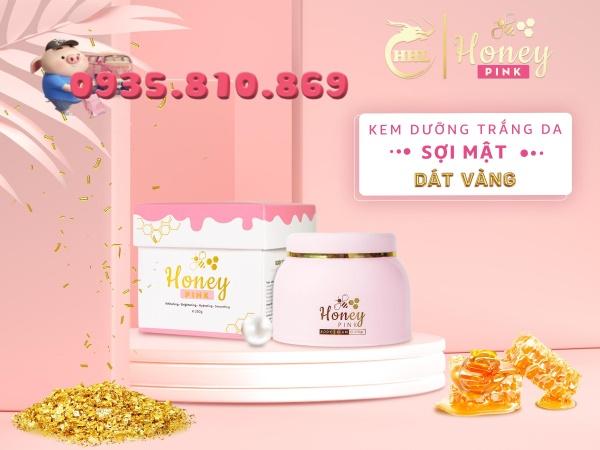 [ Giá Sỉ ] Body Honey Pink - Kem dưỡng trắng da Sợi Mật Dát Vàng, hàng chính hãng 250g