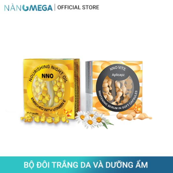 Bộ sản phẩm serum vitamin C NNO VITE hộp 30 viên dưỡng trắng da và viên khóa ẩm NNO hộp 30 viên giảm khô sạm, tăng độ đàn hồi, săn chắc da