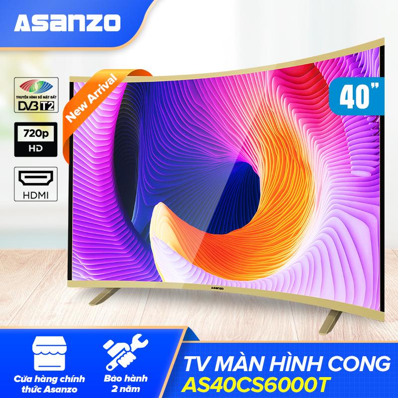 Bảng giá Tivi Màn Hình Cong LED Asanzo 40 Inch AS40CS6000T NEW 2021 [Màu Sắc Sống Động, Rõ Từng Chi Tiết]- Hàng chính hãng bảo hành 24 tháng