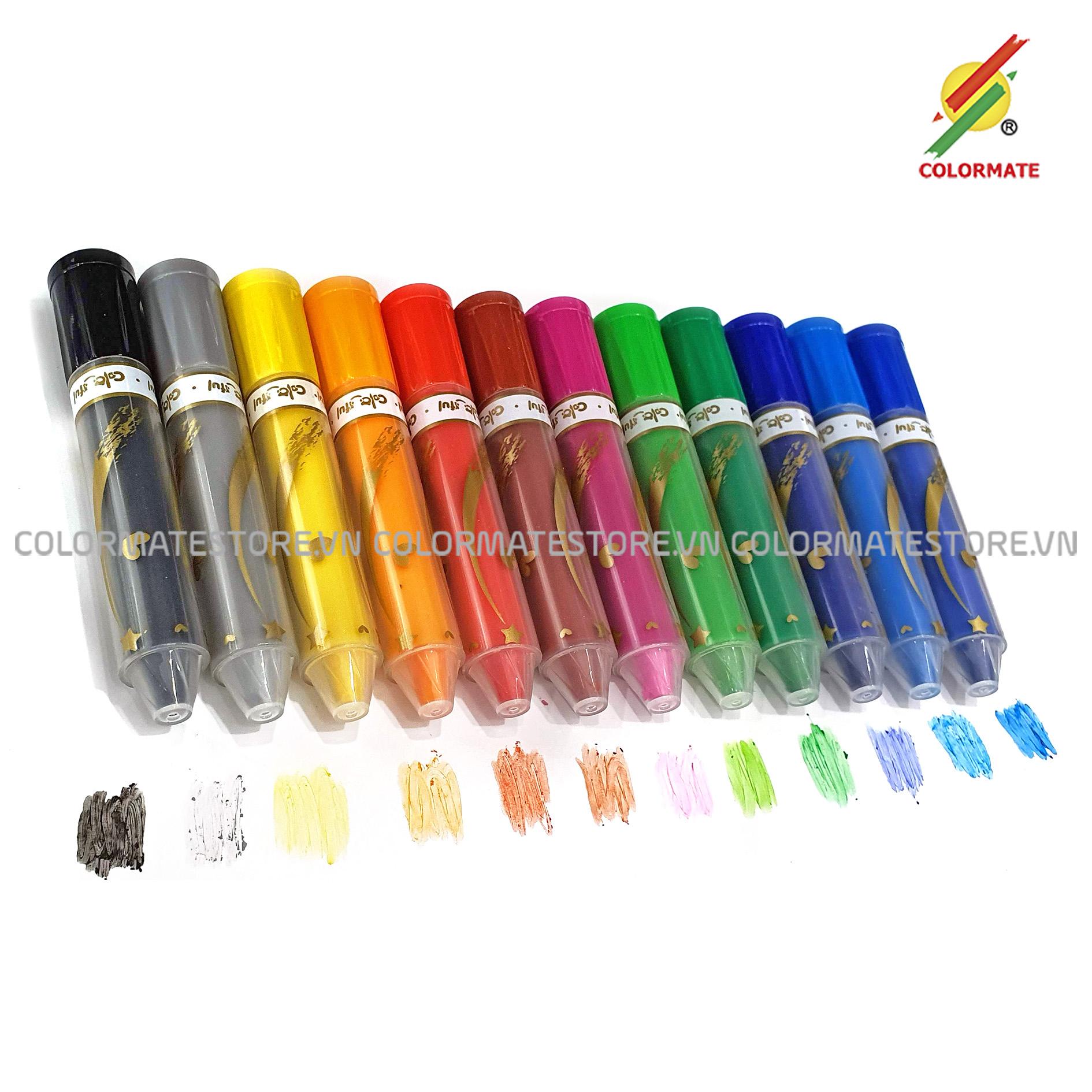 Bút Sáp Vặn 12 Màu Giá Cực Cool