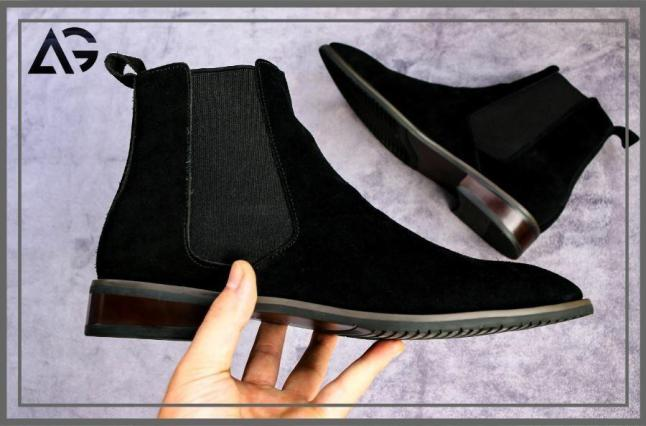 (GIÁ SỐC) Giày chelseaaa Boots Nam Da Lộn Đen Sang Chảnh(ẢNH+VIDEO THẬT) giá rẻ