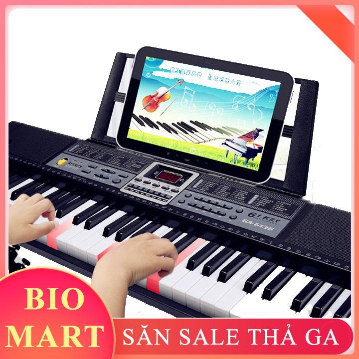 [ TẶNG GIÁ ĐỠ ] - ĐÀN PIANO ĐIỆN TỬ 61 PHÍM CHO NGƯỜI MỚI HỌC – ĐÀN PIANO ĐIỆN TỬ CHO BÉ PHÁT TRIỂN TRÍ NÃO - BIO24