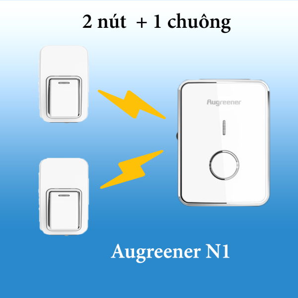Chuông cửa không dây chống nước, không dùng PIN AUGREENER N1