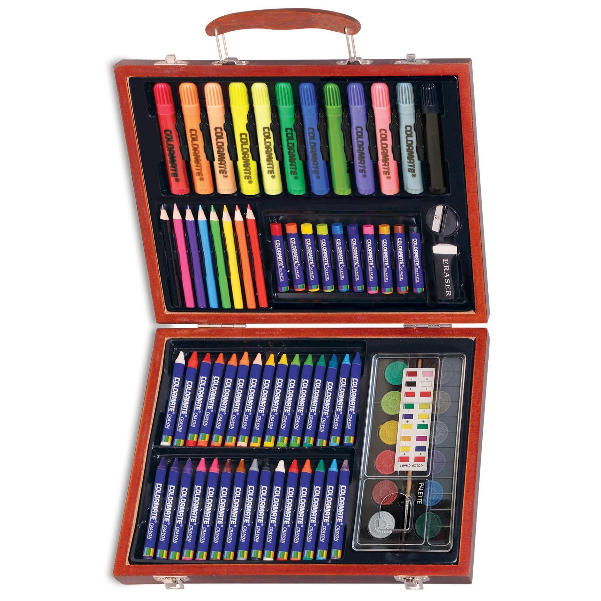 Bộ màu vẽ đa năng hộp gỗ Colormate MS-78W