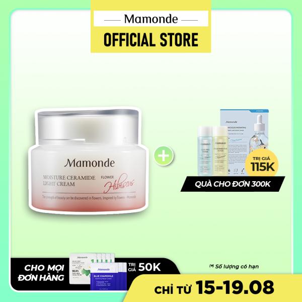 Kem dưỡng ẩm nhẹ dịu cho da Mamonde Ceramide Light Cream 50ml
