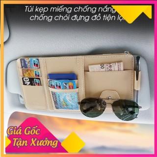 Túi ví đựng giấy tờ,kẹp miếng chống nắng ô tô, Ví đựng giấy tờ ô tô kẹp miếng chống nắng chất liệu da PU cao cấp thumbnail