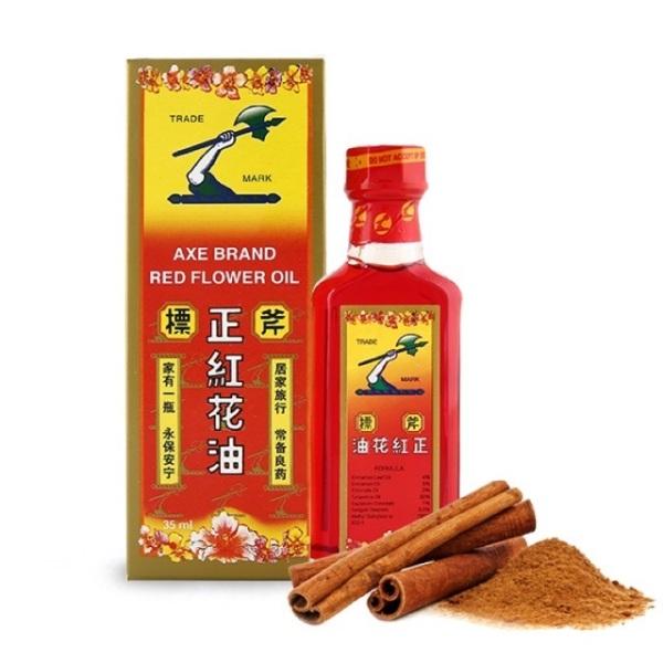 Dầu hồng hoa hiệu cây búa Axe Brand Red Flower Oil (35ml) nhập khẩu