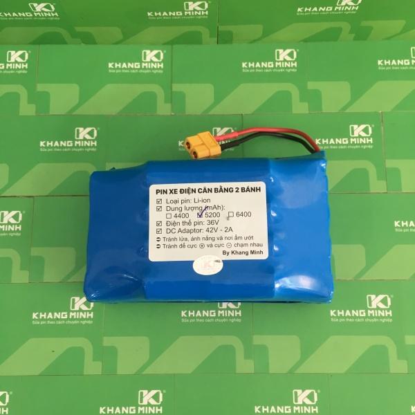 Giá bán Pin xe điện cân bằng 2 bánh 36V 5.2Ah, dung lượng cao và dòng xả chuẩn
