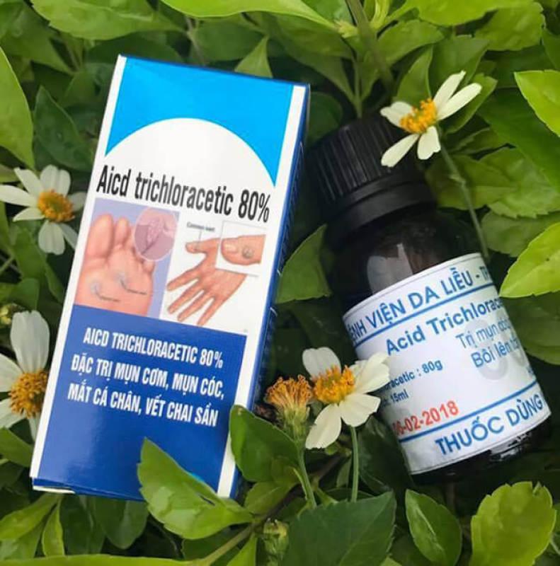 Chấm Mụn Cóc Tại Nhà Hết Mụn Mắt Cá Mụn Cơm Acid-Trichloracetic 80% - Chai 15ml