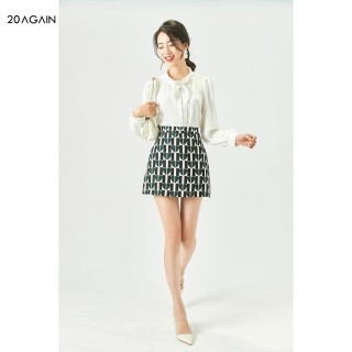 Chân váy dáng A 20AGAIN, thiết kế trẻ trung, nămg động, chất lụa cao cấp JAC0027 thumbnail