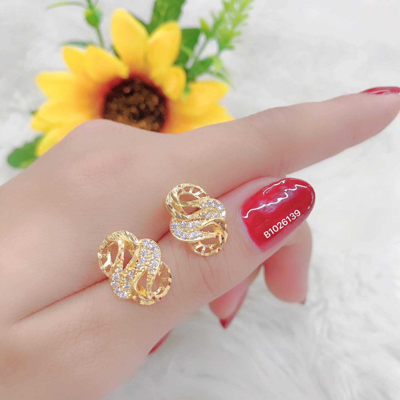 Đôi Bông Tai Nữ Mạ Vàng or Bạch Kim  Mẫu 0391306 - Mang Đi Chơi, Đi Tiệc Đều Đẹp - Tubi Cony - Trang sức nữ, Bông tai mạ vàng, bông tai đẹp