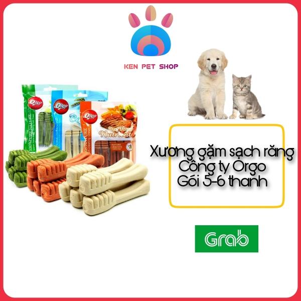 [XƯƠNG GẶM ORGO] [6 THANH/GÓI] Xương gặm sạch răng cho cún - Đầy đủ mùi vị