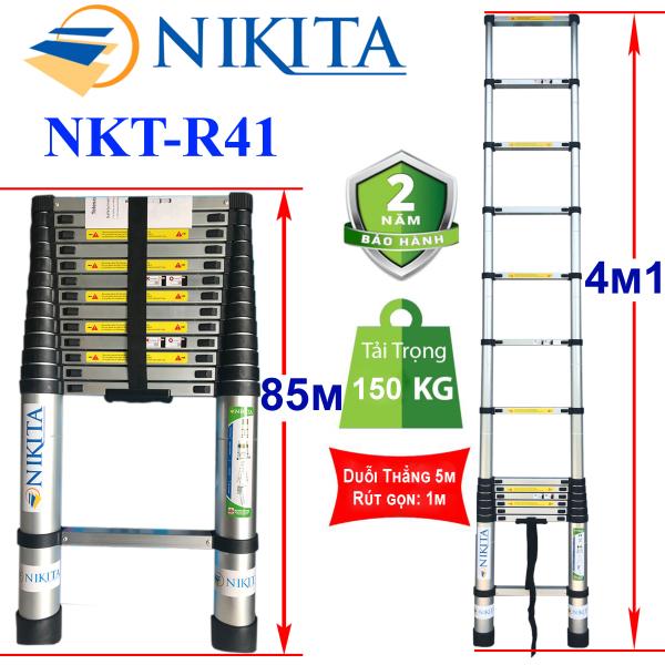 Thang nhôm rút đơn 4m1 Nikita Nhật Bản NKT-R41