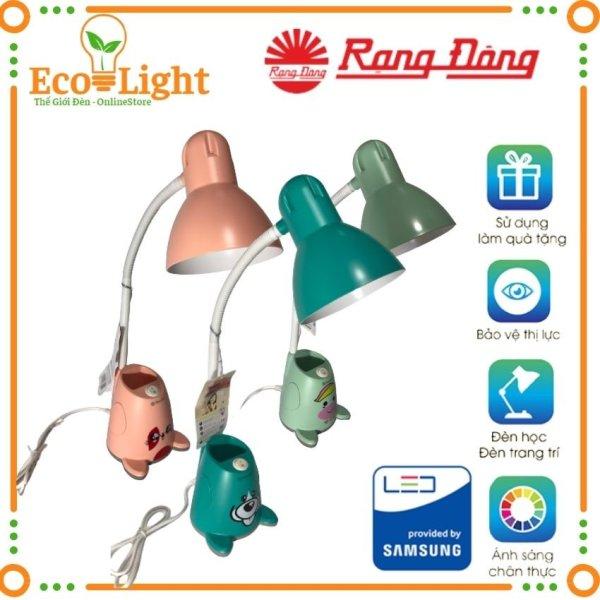 [Bảo hành 12 Tháng + Quà 15K] Đèn học để bàn Rạng Đông Ecolight RD-RL-24, bóng led bảo vệ thị lực, chống mỏi mắt, cận thị, tiết kiệm điện năng Quà tặng bóng 3W