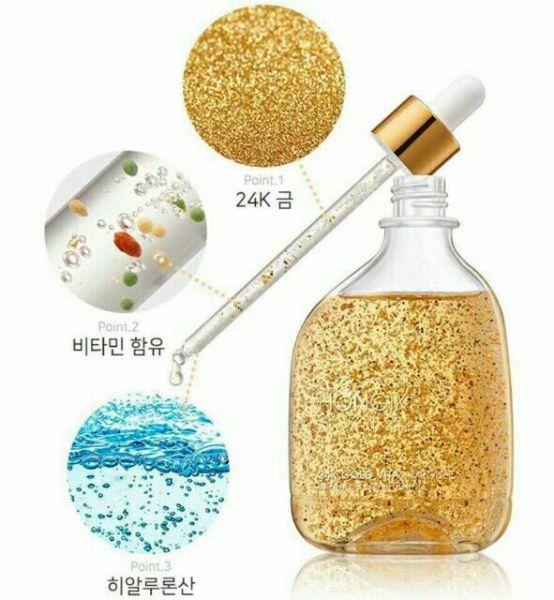 100Ml Tinh Chất Vàng Non Hongik Skin 24K Gold Vita Ampoule HàN QuốC nhập khẩu