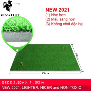 Residential Practice Golf Hitting Mat with Removable Rubber Tee Holder for Indoor Outdoor thumbnail