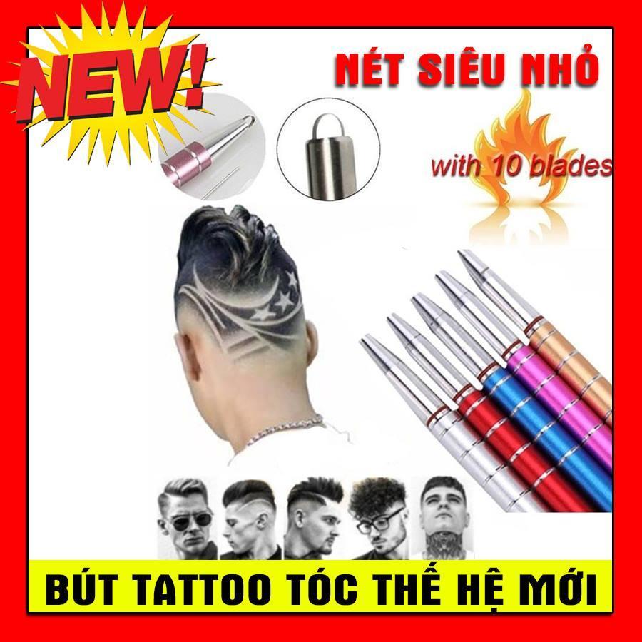 Dao Cạo Khắc Kiểu Tóc Đa Chức Năng - Bút Tatoo tóc hợp kim không gỉ nét nhỏ 2019 màu bạc giá rẻ