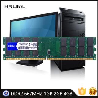 HRUIYL Desktop RAM DDR2 PC2-5300U CL6 240 Pin 1.8V Memory New Compatible Intel AMD Computer 667MHZ 1GB 2GB 4GB Long DIMM DDR 2 thumbnail
