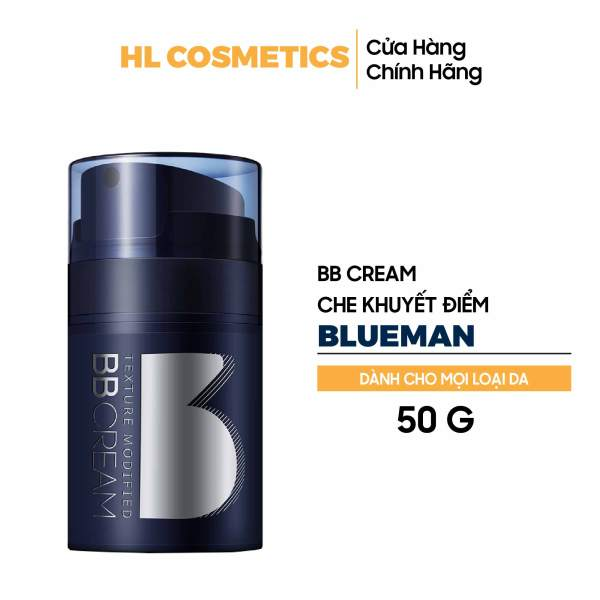 Kem BB Cream Cho Nam BLUEMAN Hỗ Trợ Che Khuyết Điểm, Kiềm Dầu & Nâng Tone Da 50g nhập khẩu