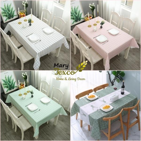 Khăn trải bàn chống thấm nước Mary Texco, chất liệu PVC không mùi, không phai màu, dễ dàng vệ sinh, màu sắc vintage trang trí bàn ăn, bàn trà,trải picnic, làm phông nền chụp ảnh sản phẩm