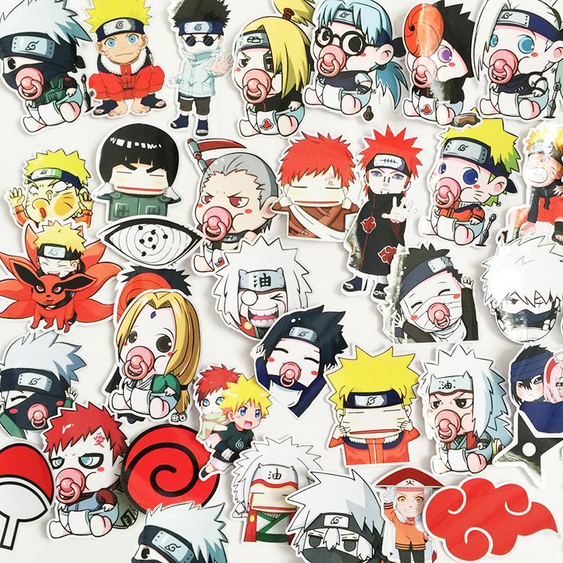 Bảng giá Bộ 35 Sticker Naruto Chibi Hoạt Hình - Miếng Dán Naruto Phong Vũ