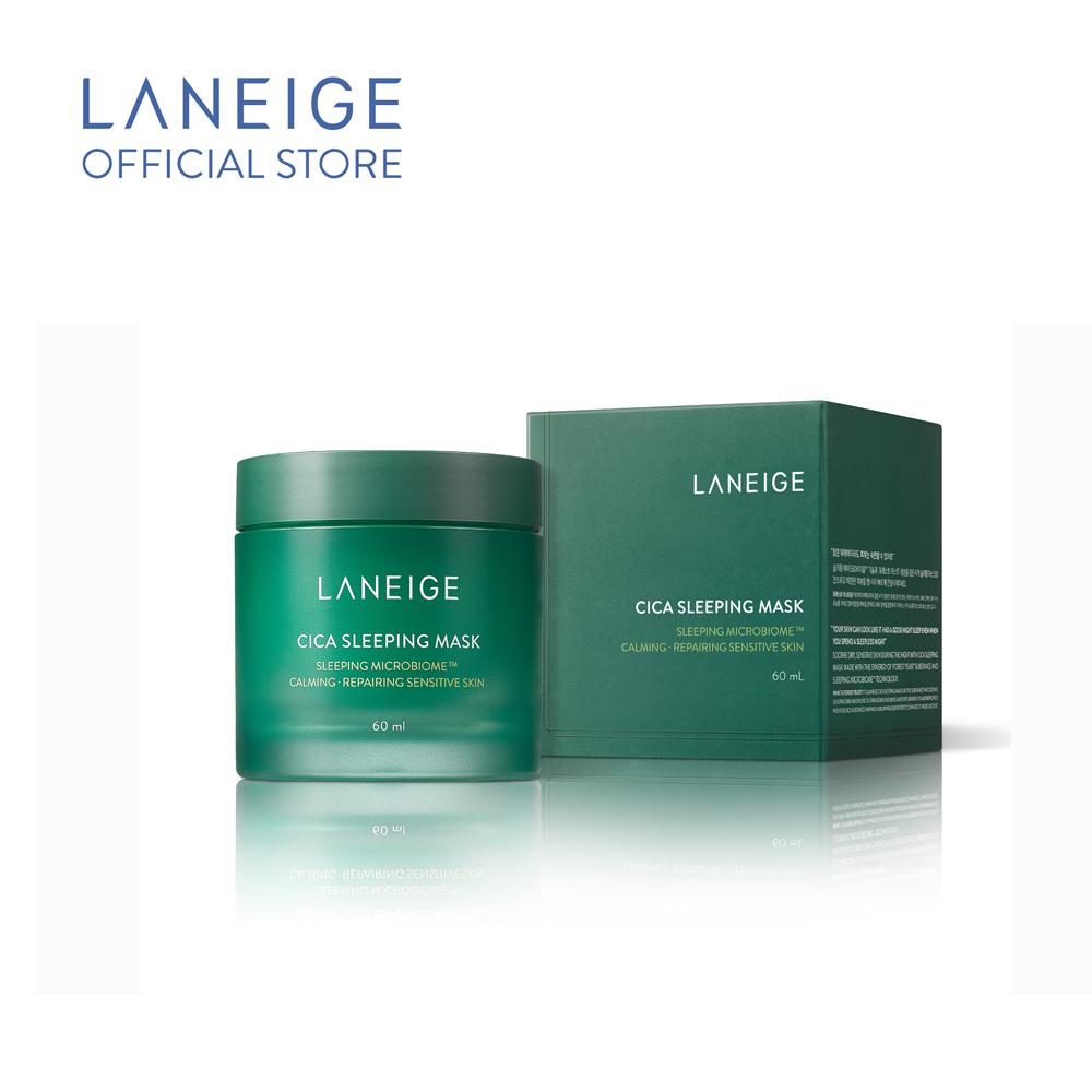 Mặt nạ ngủ dưỡng ẩm giúp phục hồi và nuôi dưỡng da phiên bản cải tiến LANEIGE Cica Sleeping Mask 60ml