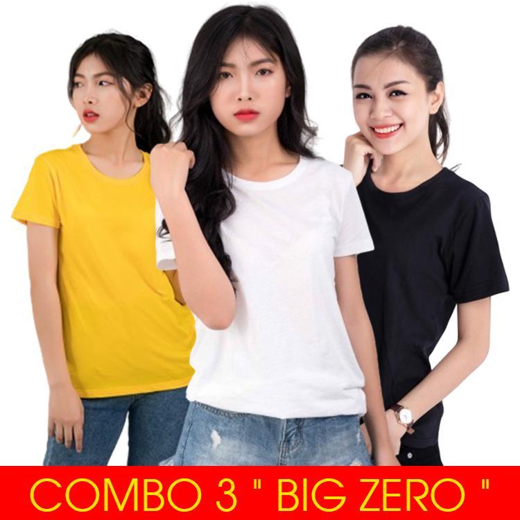 Mã Khuyến Mại COMBO 3 ÁO NỮ   THE BIG ZERO   Siêu Vải Mềm Mịn, Siêu Chuẩn Form Nữ, Siêu Cao Cấp - ATN01 - Giá Sản Phẩm Là Gồm Cả 3 áo