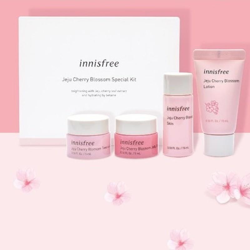 (Mini) Bộ 4 Sản Phẩm Dưỡng Ẩm Và Nâng Tông Da Trắng Hồng Tự NhiênJeju Cherry Blossom Special Kit (4 Sản Phẩm) giá rẻ