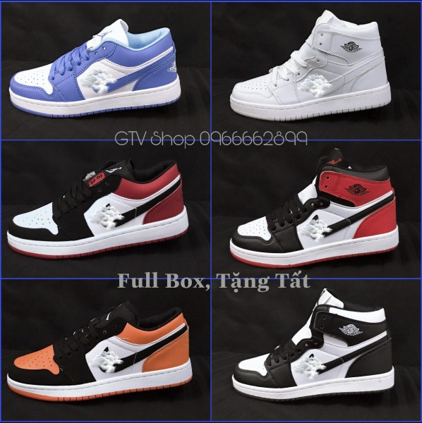 Tặng hộp, Bill và Tất - Giày thể thao nam nữ Nike jordan, size 36 đến 44.