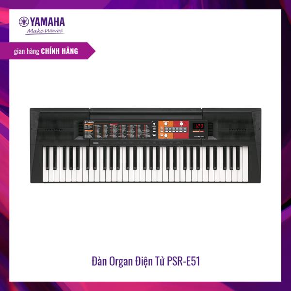 Đàn organ (keyboard) điện tử Yamaha PSR-F51 - Dòng đàn keyboard tiêu chuẩn dành cho những người mới bắt đầu,120 hệ âm sắc, 114 nhịp điệu, tích hợp Bộ gõ nhịp Metronome - Bảo hành chính hãng 12 tháng