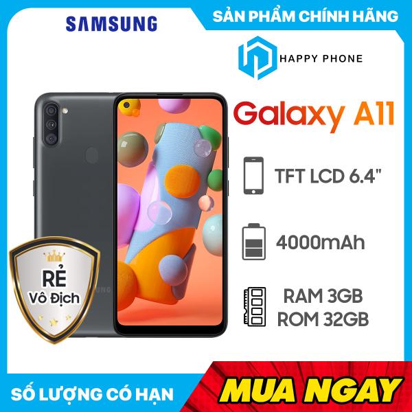Điện thoại Samsung Galaxy A11 3GB/32GB - Pin 4000mAh - Hàng Chính Hãng, mới 100%, nguyên seal - Bảo hành 12 Tháng