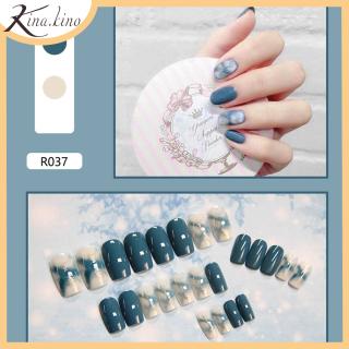 Nail giả- Set 24 móng tay giả cao cấp- KinaKino phụ kiện làm đẹp [TẶNG KEO DÙNG NHIỀU LẦN] thumbnail
