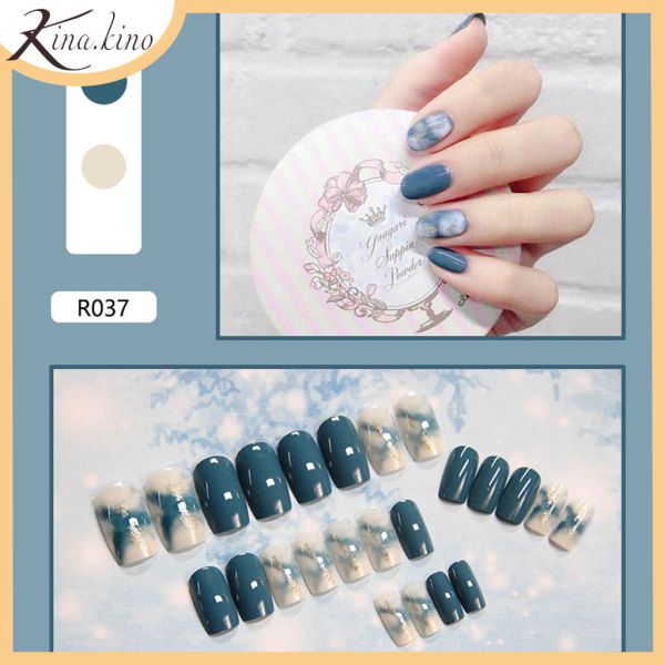 Nail giả- Set 24 móng tay giả cao cấp- KinaKino phụ kiện làm đẹp [TẶNG KEO DÙNG NHIỀU LẦN] nhập khẩu