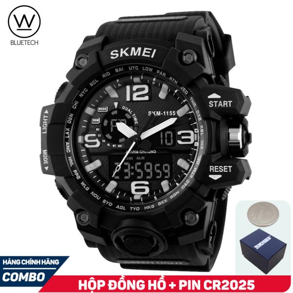 Đồng hồ nam SKMEI 1155 Thể Thao Điện Tử - Chạy 2 máy kim và điện tử bán chạy