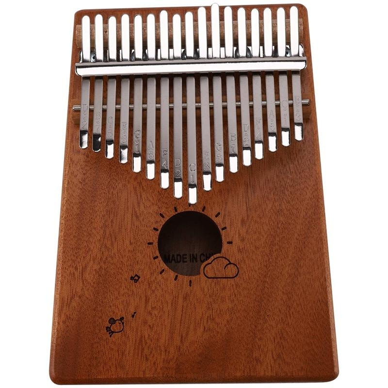 17 Keys Kalimba Thumb Piano Mbira Mahogany Solid Wood with Carry Bag Storage Case Tuning Hammer Music Book Stickers Malaysia