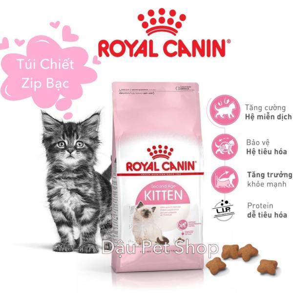 Royal Canin Kitten - Thức ăn hạt cho mèo con túi chiết zip bạc