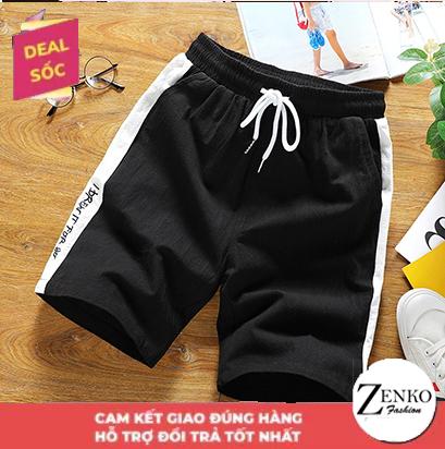 Deal Giảm Giá Quần Short Đùi Nam Viền Sọc In Chữ Phong Cách Trẻ Trung Cá Tính HNDC Zenko MEN SHORTS 051