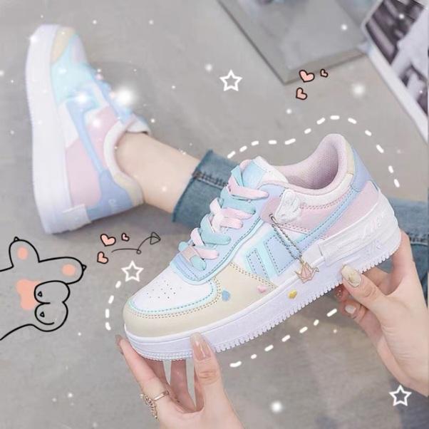 Giày Thể Thao nữ Sneaker nữ Air, phối màu siêu đẹp, chất liệu da cao cấp, đế độn 5 phân, giày nữ đi học, đi chơi giá rẻ